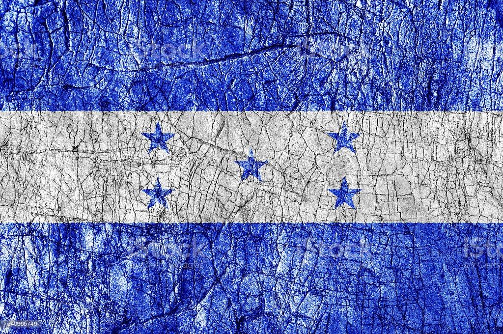 Grudge stone painted Honduras flag stock photo