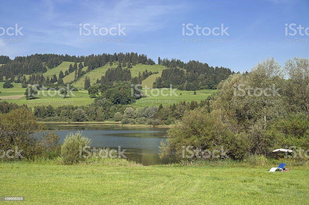 Gruentensee,Nesselwang,Allgaeu,Bavaria,Germany stock photo