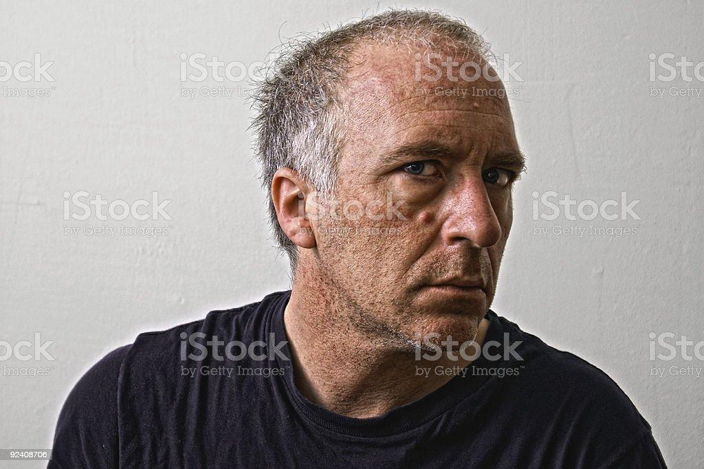 gruff man royalty-free stock photo