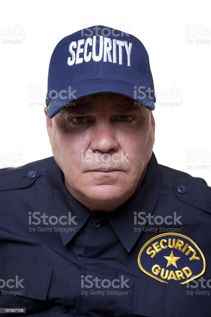 Gruff Security Guard stock photo