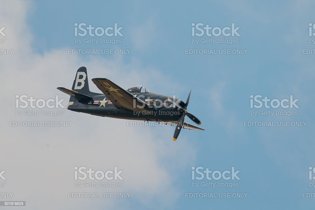Grumman Bearcat vintage aircraft stock photo