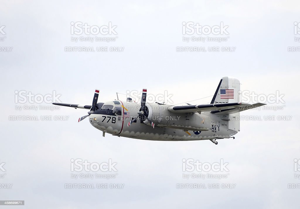 Grumman C-1A Trader Navy aircraft stock photo