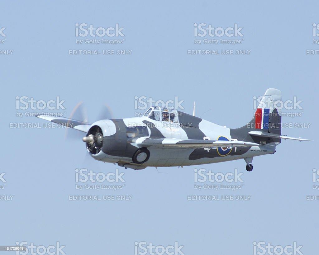 Grumman F4F Wildcat stock photo