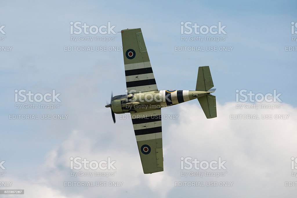 Grumman Wildcat (Martlet) vintage aircraft stock photo