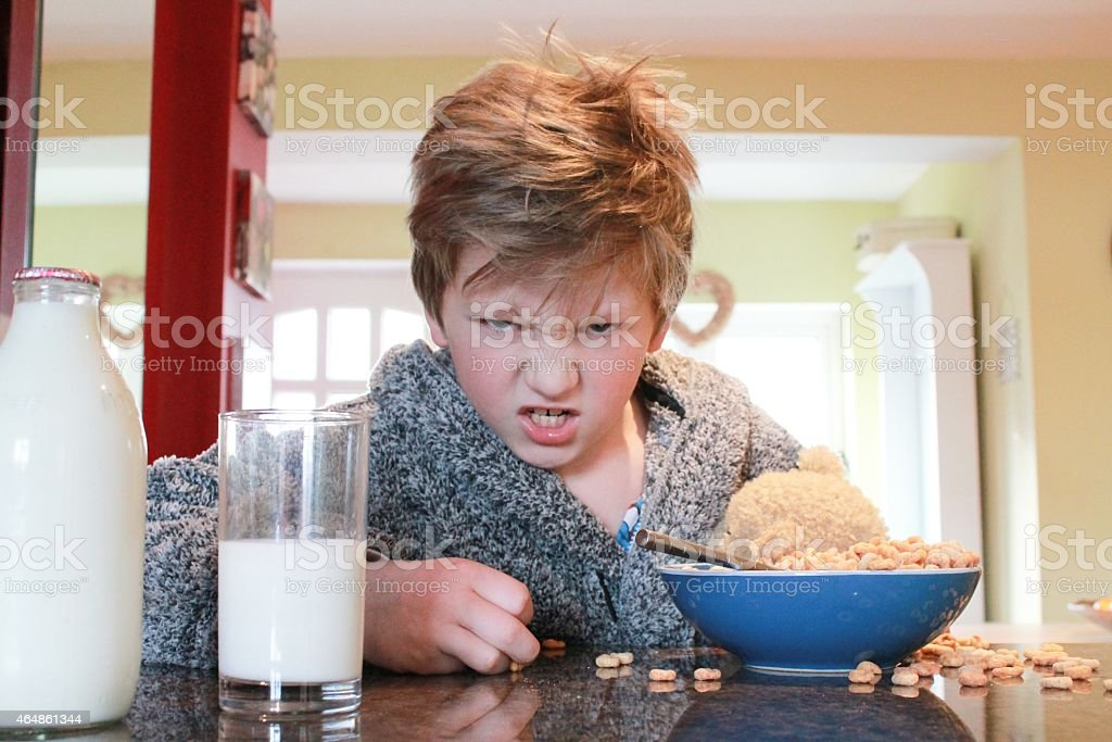 Grumpy Breakfast stock photo