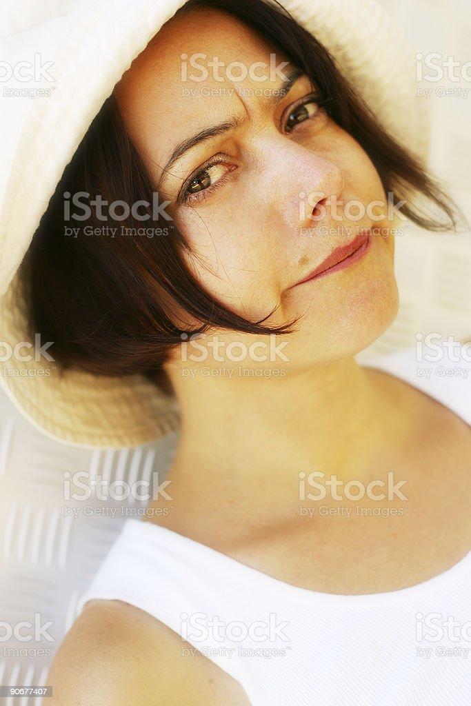Grumpy Girl stock photo