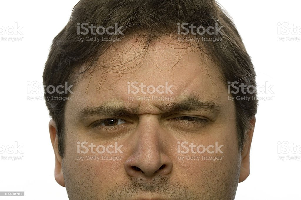Grumpy look stock photo