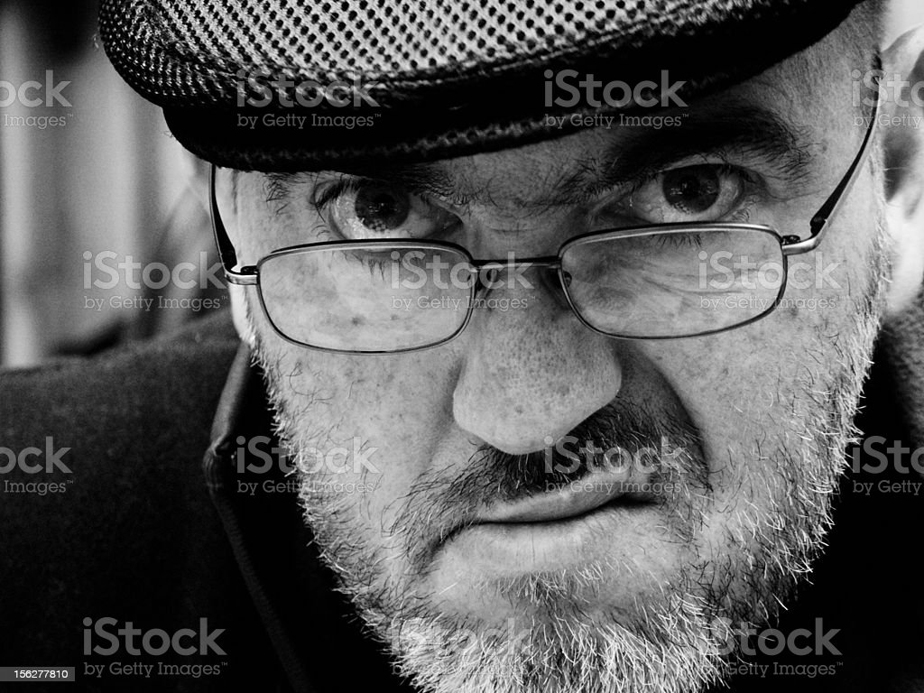 Grumpy man royalty-free stock photo