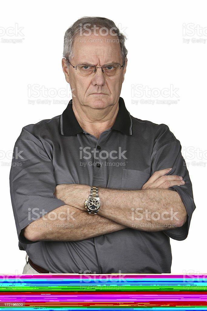 Grumpy Man royalty-free stock photo
