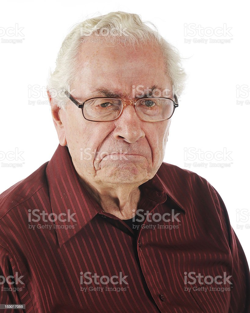 Grumpy Old Man stock photo