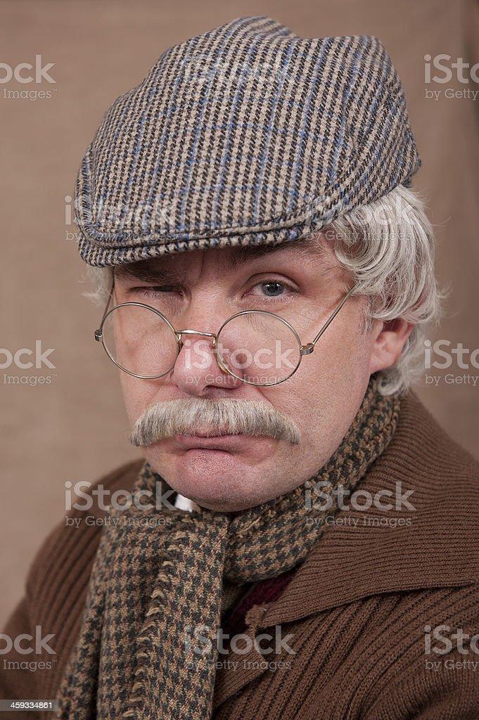 Grumpy Old Man stock photo