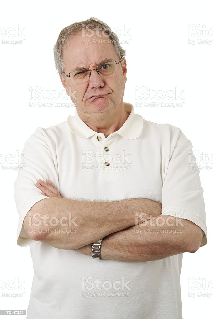 Grumpy royalty-free stock photo