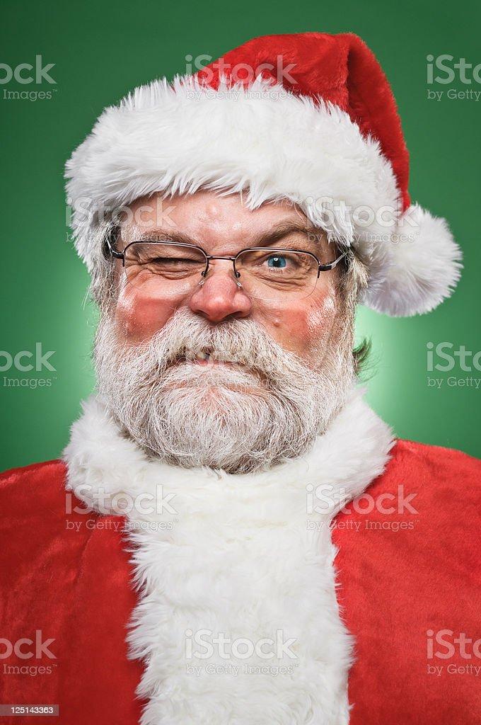 Grumpy Santa Claus stock photo