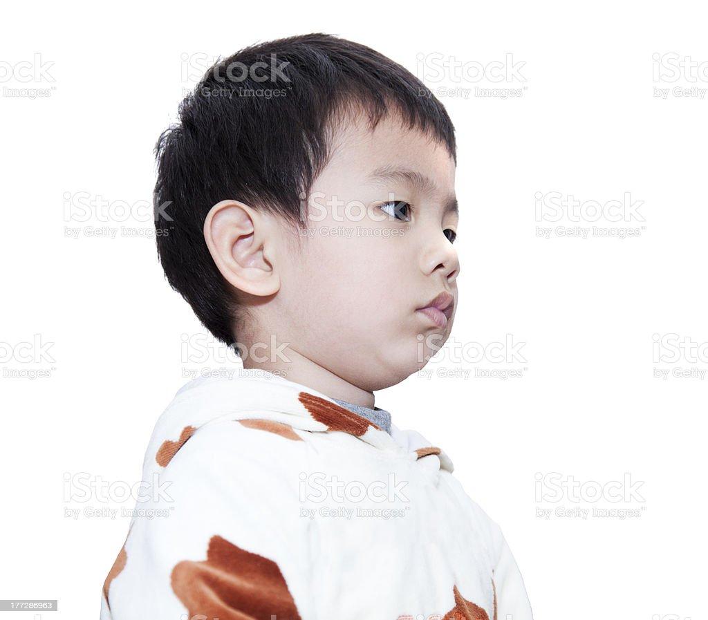 Grumpy toddler. royalty-free stock photo