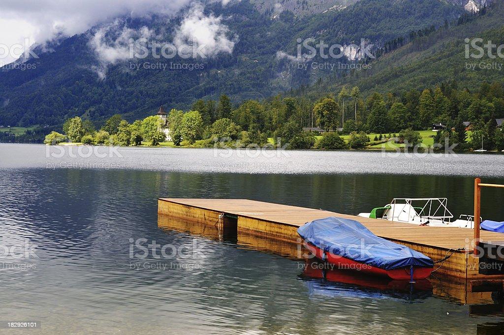 Grundlsee, an Austrian lake stock photo