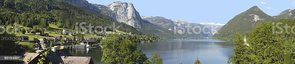 Grundlsee Landscape, Austria stock photo