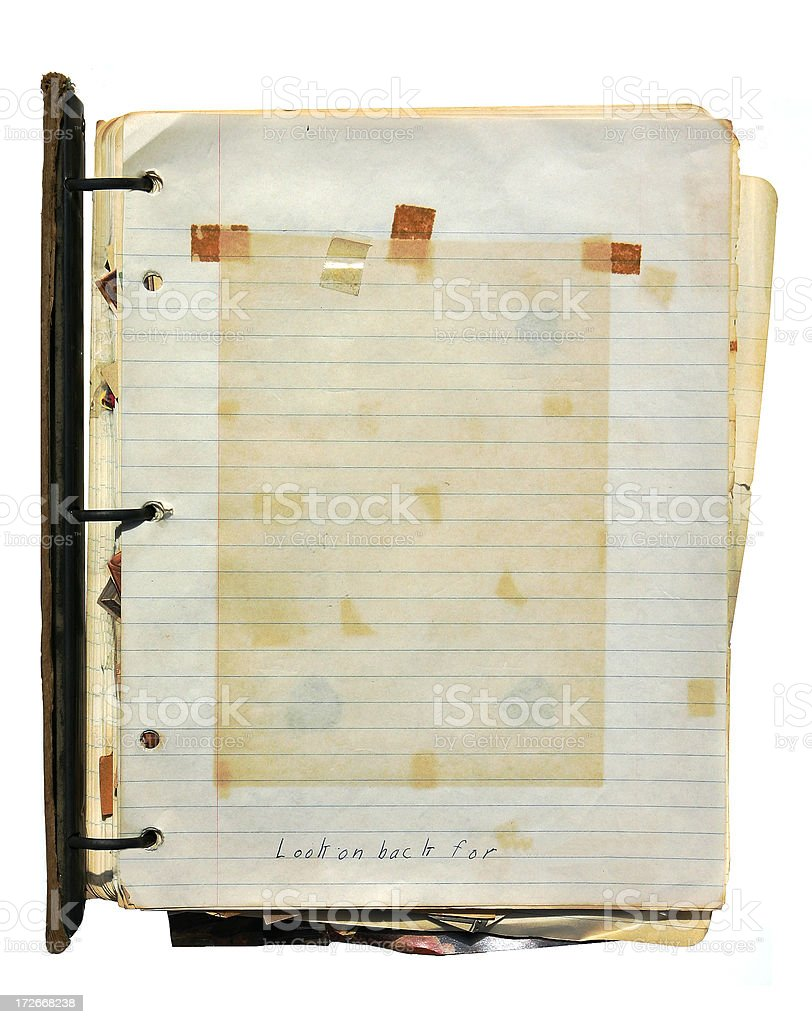 Grunge 3 Ring Binder Notebook royalty-free stock photo