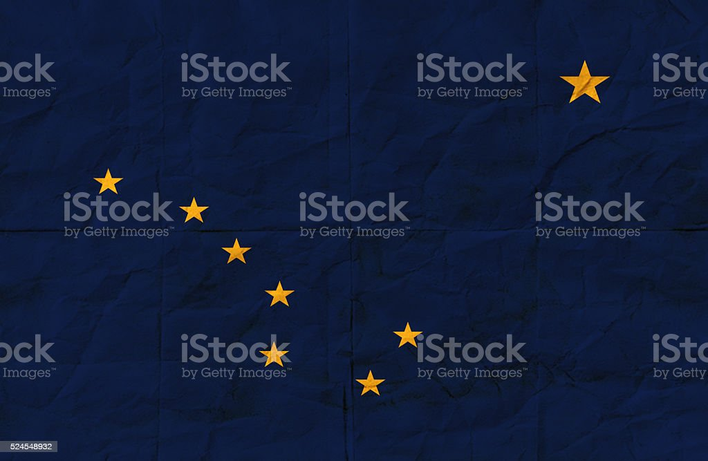 Grunge Alaska State Flag stock photo