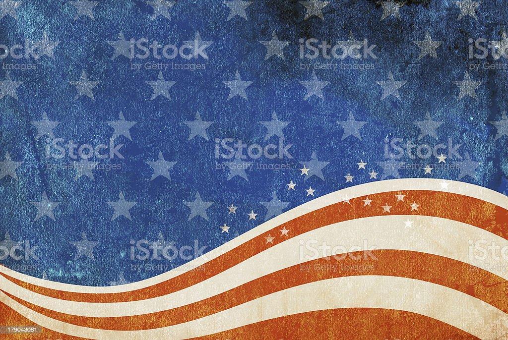 Grunge American flag background stock photo