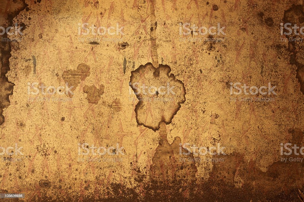Grunge Antique Watermarked Paper stock photo