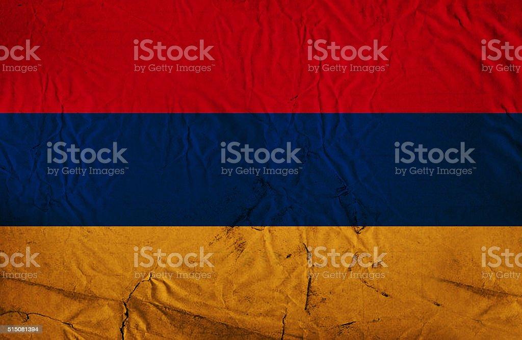 Grunge Armenian flag stock photo