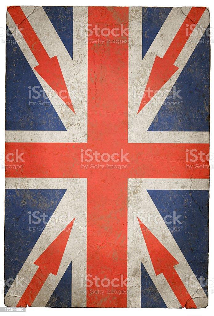 Grunge Arrow Union Jack royalty-free stock photo