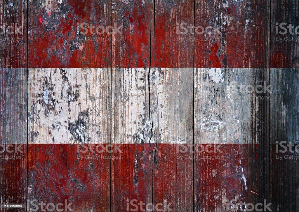 Grunge Austrian Flag stock photo