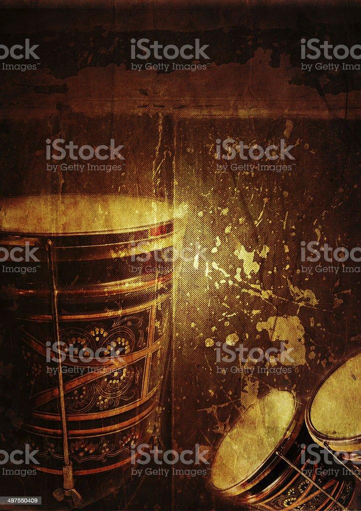Гранж фон Барабан бонго Стоковые фото Стоковая фотография
