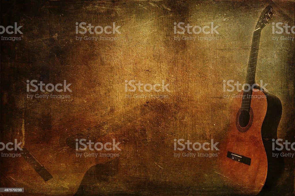 Гранж фон гитара Стоковые фото Стоковая фотография