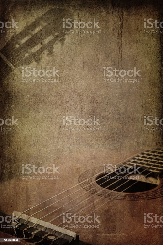 Grunge background guitar stock photo