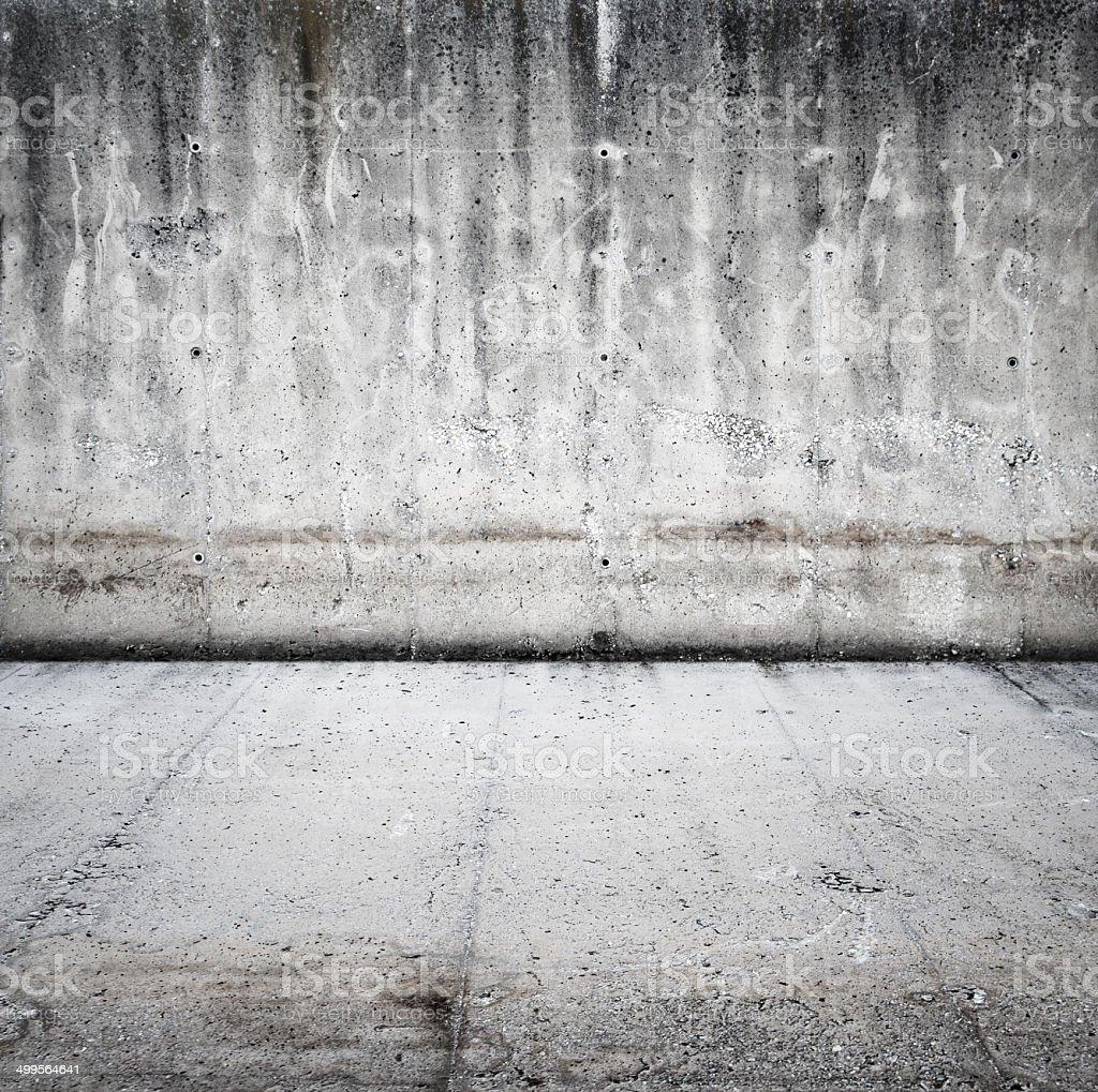 Grunge background of concrete room stock photo
