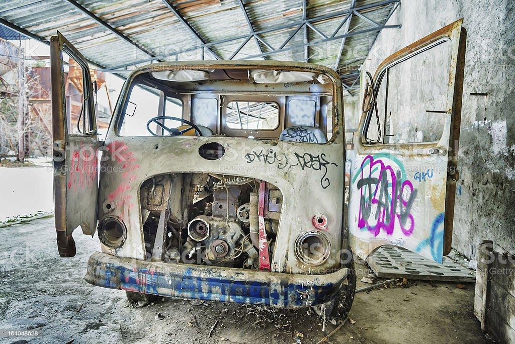 grunge background, vintage truck royalty-free stock photo