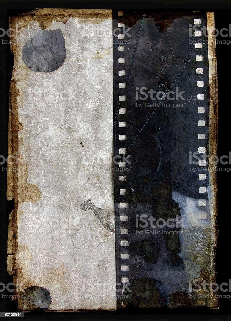 Grunge background with film strip stock photo
