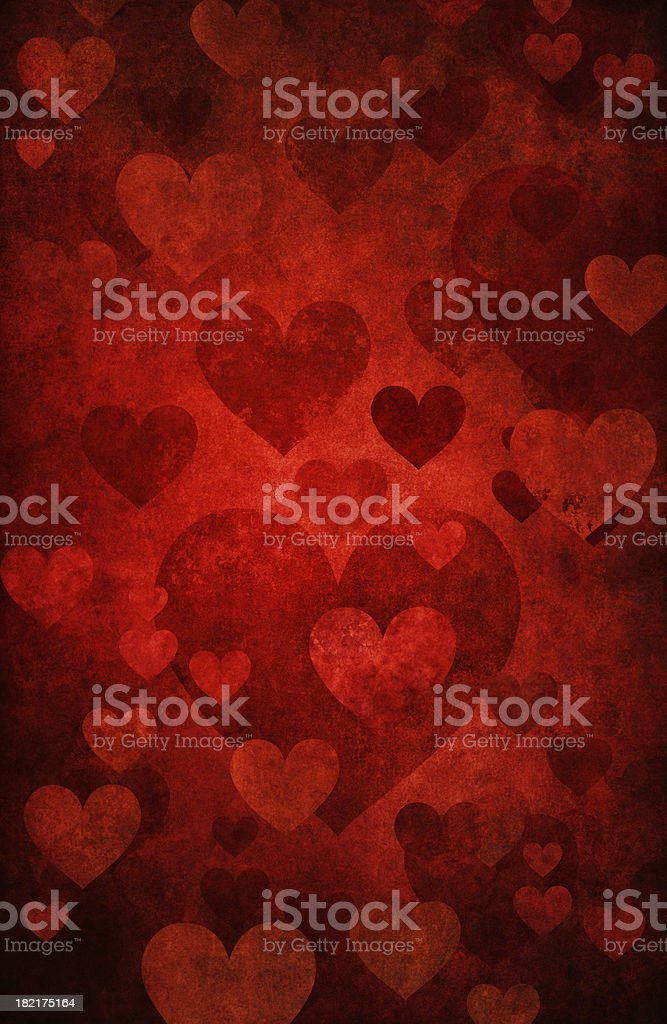 grunge background with hearts royalty-free stock photo