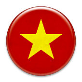 Grunge badge: Vietnam flag