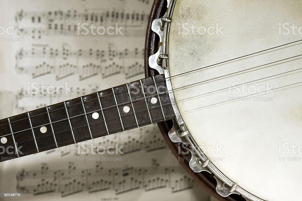 grunge banjo zbiór zdjęć royalty-free