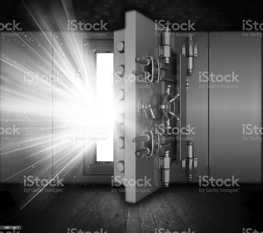 Grunge bank vault royalty-free stock vector art