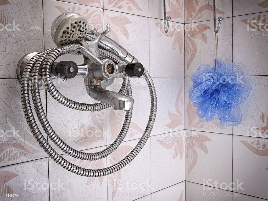 Grunge bathroom royalty-free stock photo