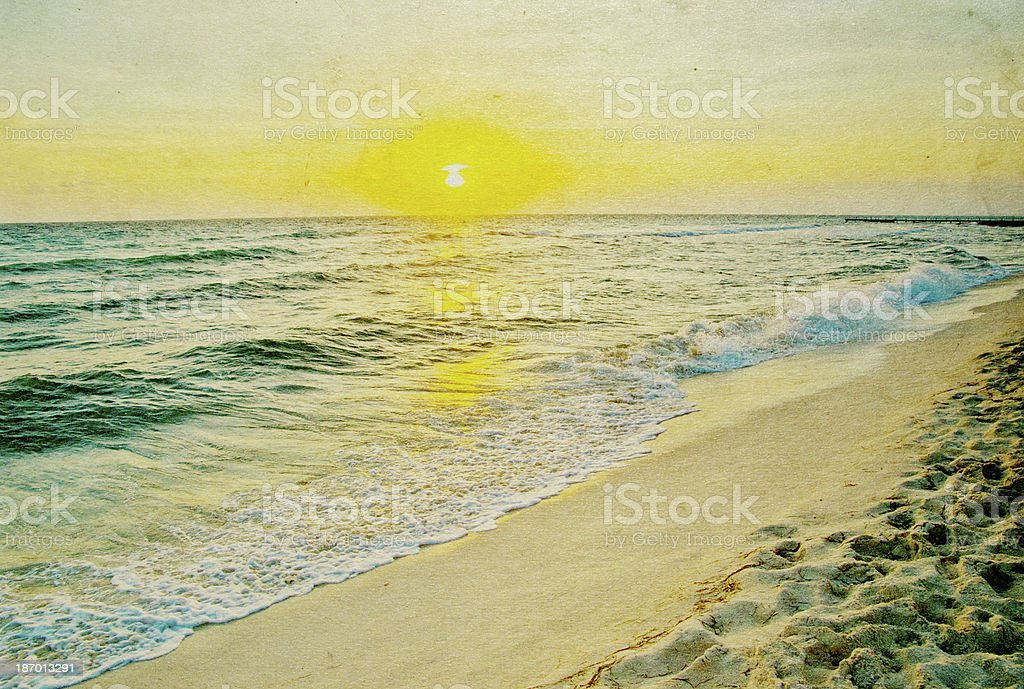 grunge beach royalty-free stock photo