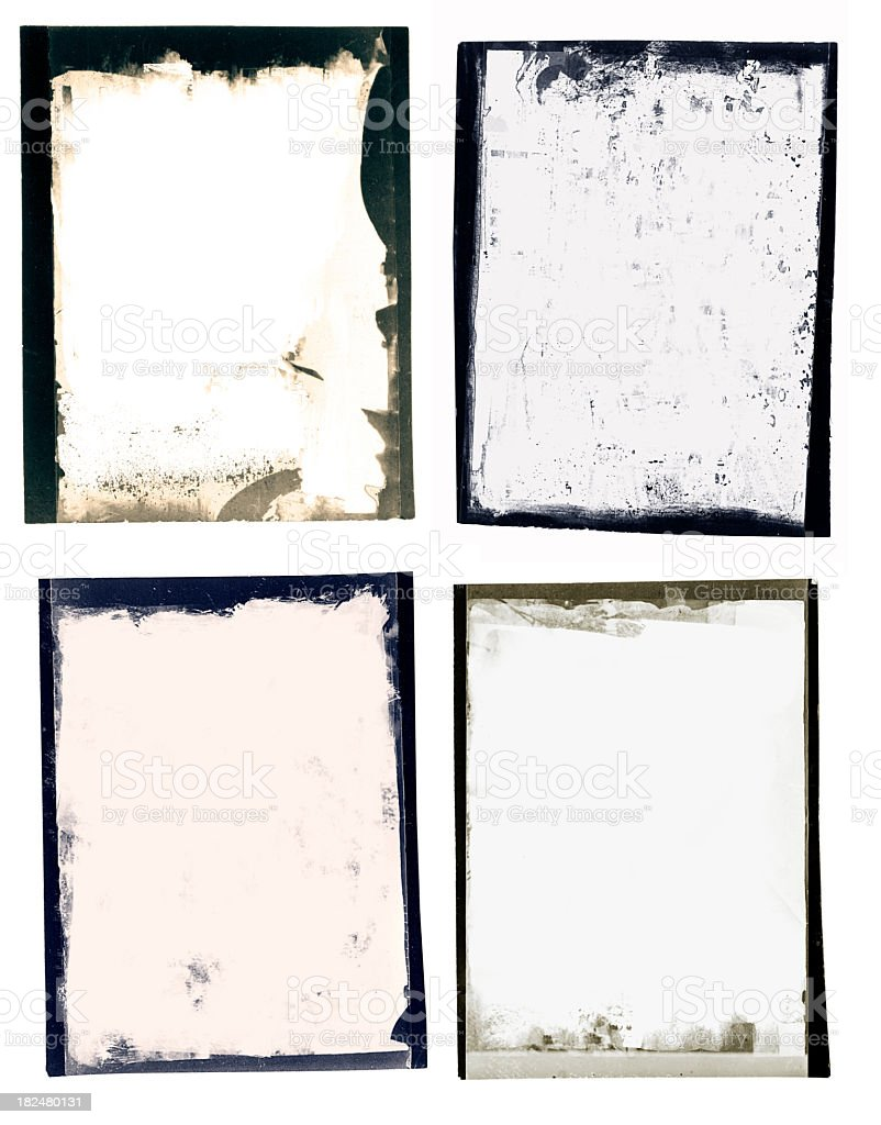 Grunge black border polaroid set royalty-free stock photo