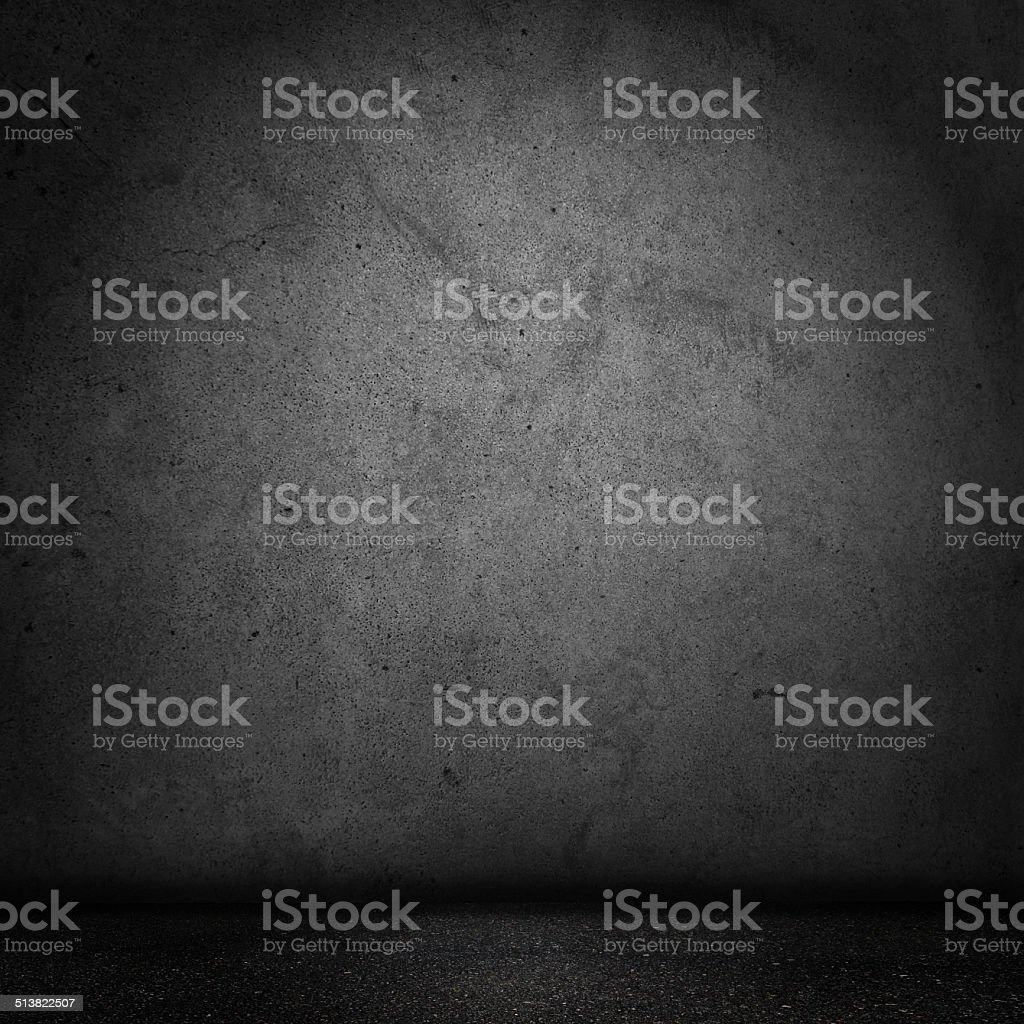 Grunge Black Domestic room stock photo