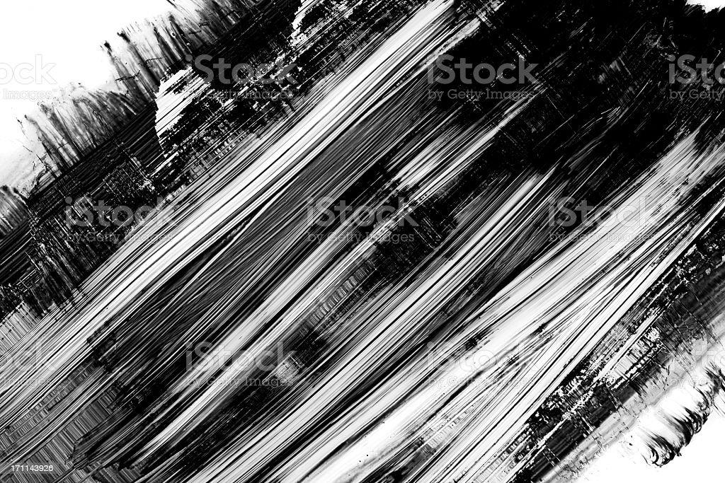 Grunge black paint brush stroke background on white stock photo