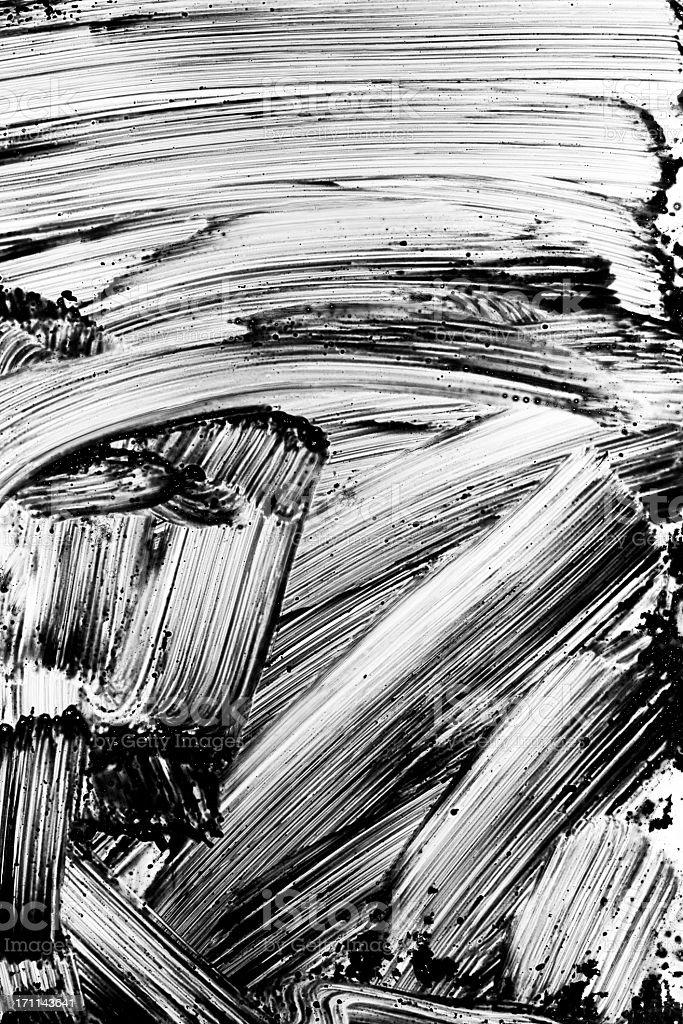 Grunge black paint brush stroke background stock photo