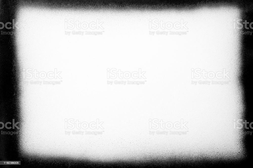 Grunge Black Sprayed Frame stock photo