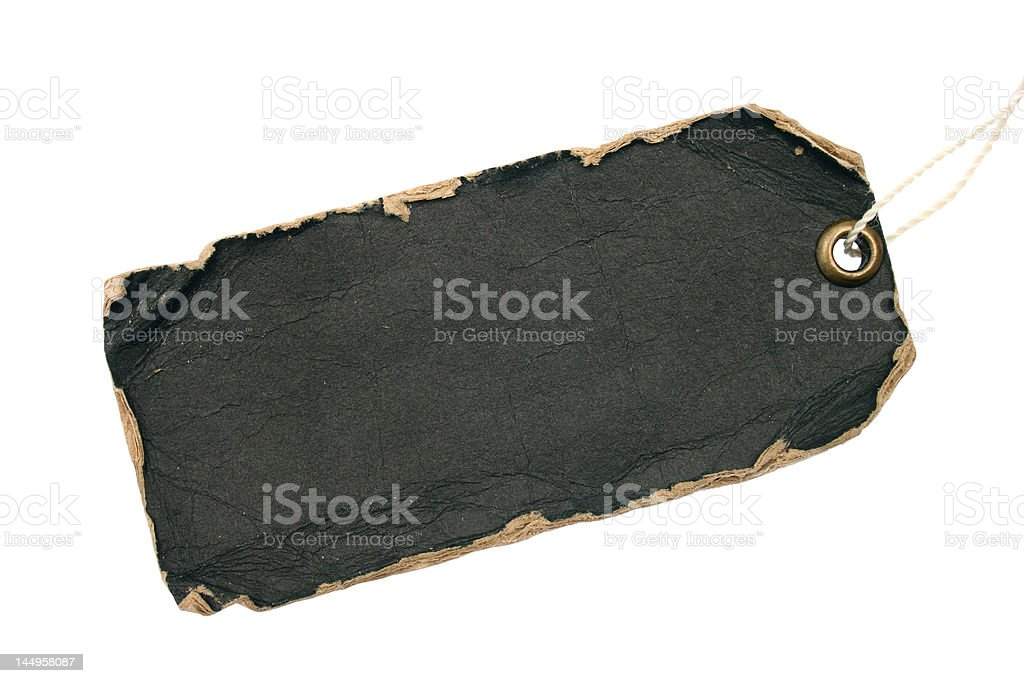 grunge black tag stock photo