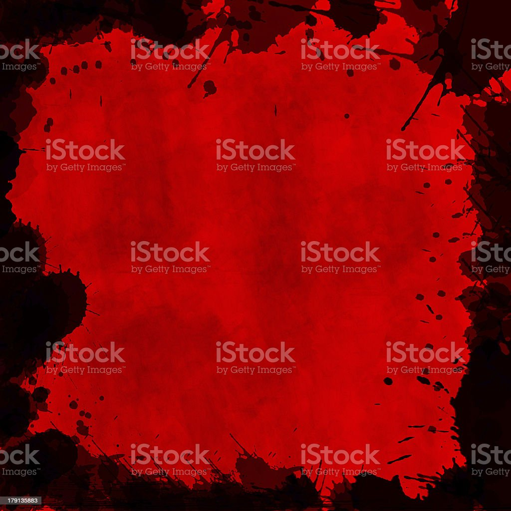 Grunge bloody background with black frame royalty-free stock photo