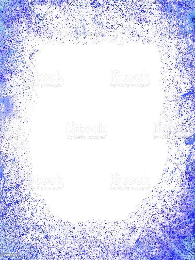 Grunge blue frame royalty-free stock photo