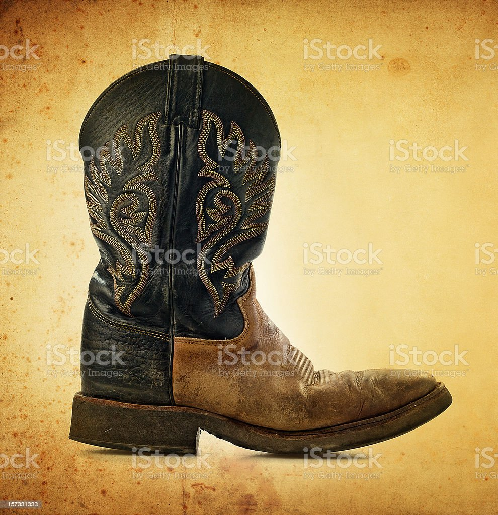 grunge boot royalty-free stock photo