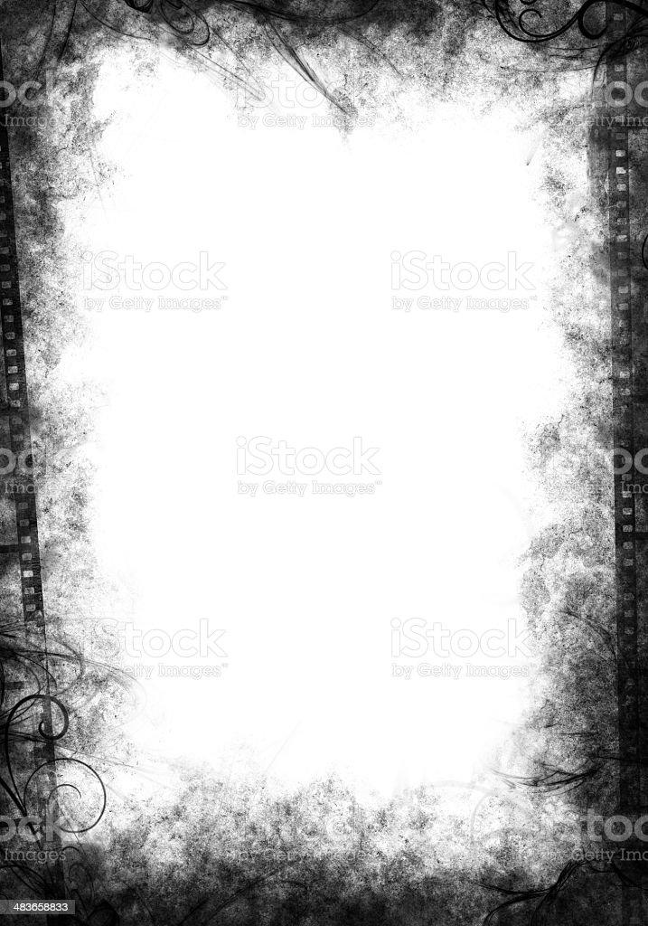 Grunge Border Black stock photo