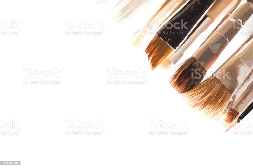 Grunge brushes background stock photo